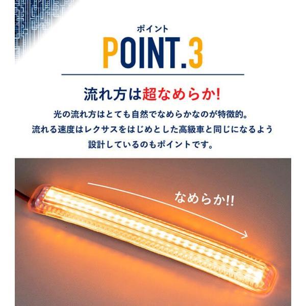シーケンシャルウインカー 流れるウインカー LED テープライト 12V 17センチ 28連 2本入り クリアチューブ 簡単取付 保証半年 送料無料|gfactory|06