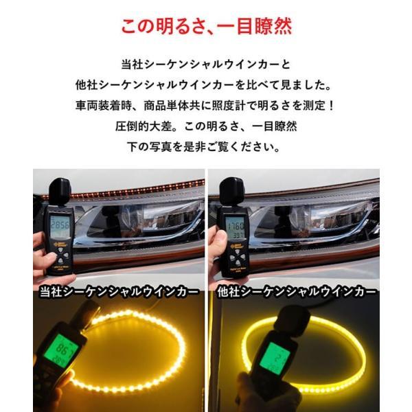 シーケンシャルウインカー 流れるウインカー LED テープライト 12V 20センチ 15連 2本入り シリコン 簡単取付 保証半年 送料無料 gfactory 03
