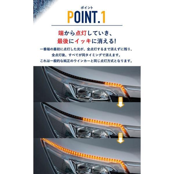 シーケンシャルウインカー 流れるウインカー LED テープライト 12V 20センチ 15連 2本入り シリコン 簡単取付 保証半年 送料無料 gfactory 04