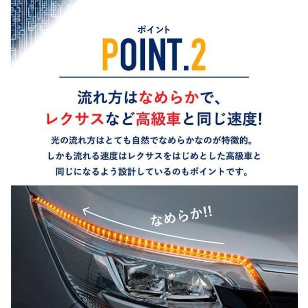 シーケンシャルウインカー 流れるウインカー LED テープライト 12V 20センチ 15連 2本入り シリコン 簡単取付 保証半年 送料無料 gfactory 05