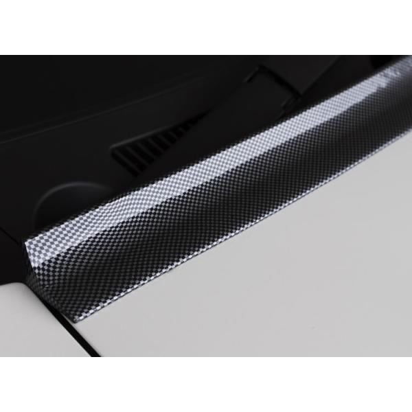 ボンネット ルーフ トランク フロントスポイラー 両面テープで簡単装着 マルチスポイラー2.5 カーボン柄 PVC製|gfactory|03