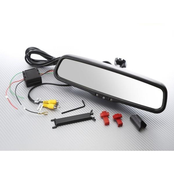 自動防眩機能付き 4.3インチ モニター LEDルームランプ 内蔵 ルームミラーモニター 高画質で夜間安心 純正ミラー交換タイプ ver.3|gfactory|02