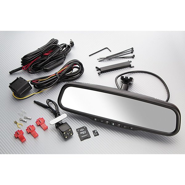 ドライブレコーダー 一体式 内蔵 ルームミラーモニター ver.3 純正ミラー交換タイプ 汎用品 専用カメラ付|gfactory|02