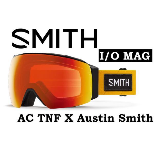20-21 40% OFF SMITH スミス I/O MAG アジアンフィット 【SMITH IO MAG TNF AUSTIN 】 ノースフェイス スノーボード スキー ゴーグル スノボ GOGGLE 日本正規品