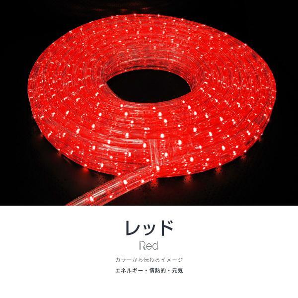イルミネーション LED チューブライト ロープライト 10m 3芯 600球 クリスマス 選べるカラー 防滴 屋外 屋内 @76009 ggbank 15
