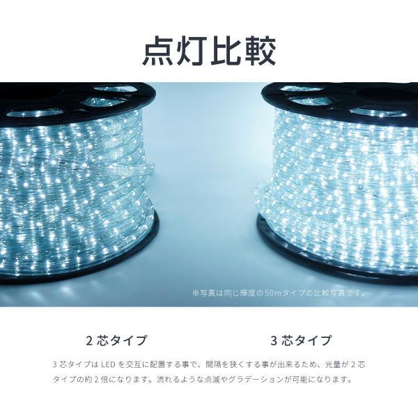 イルミネーション LED チューブライト ロープライト 10m 3芯 600球 クリスマス 選べるカラー 防滴 屋外 屋内 @76009 ggbank 06