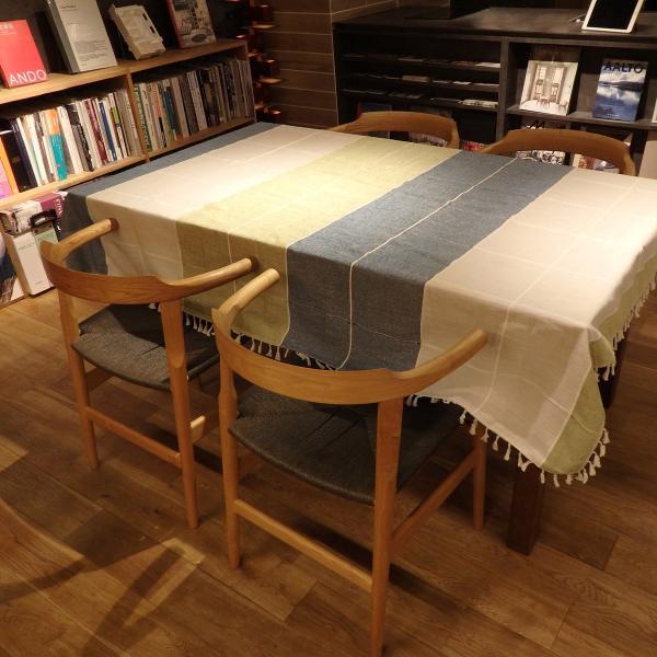 テーブルクロス 北欧 おしゃれ 長方形 180×140cm 青 緑 青 灰 ブルー グリーン グレー モダン  @87300|ggbank|07