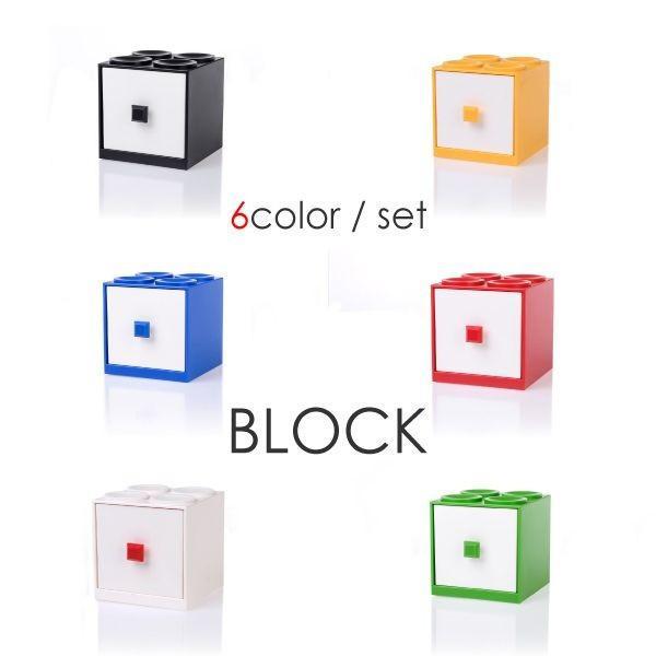 調味料入れ おしゃれ ブロック型 縦 横 6色 セット(3)  白 赤 青 黄 緑 黒 容器 ストッカー ラック 収納 _92108 ggbank 02