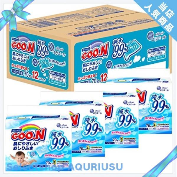 グーン 肌にやさしいおしりふき 詰替用 840枚(70枚×12個) 【ケース販売】|ggf1-store|05