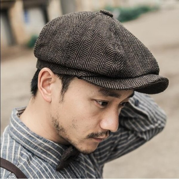 メンズ帽子ハンチングラシャ帽子キャスケットファッションイギリスカジュアルファッション復古風四季2色