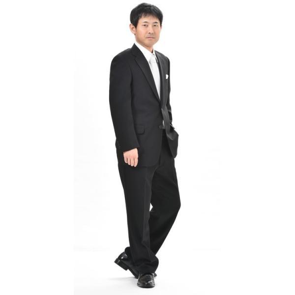 283b579f652a7 ... 日本製 夏物ブラックシングル2Bスーツ夏用礼服サマー喪服RM18460☆ ...
