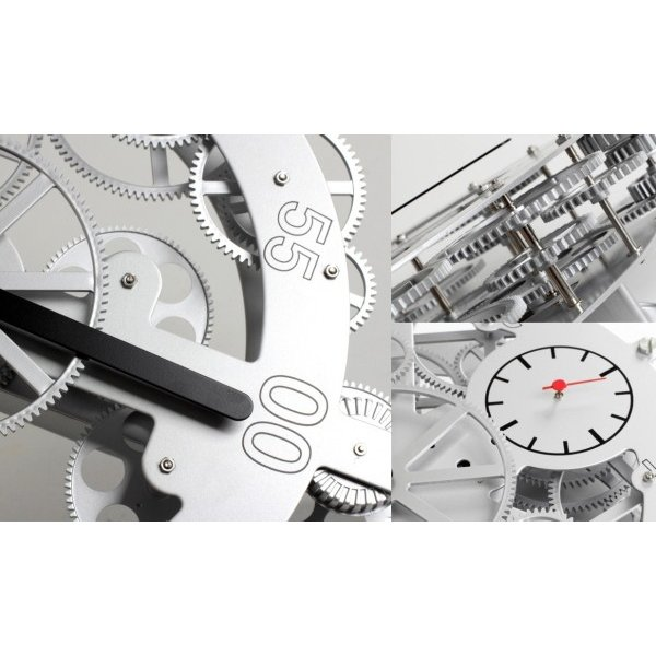 091cc458db ... GREEM MARKET(グリームマーケット) 高級 ユニーク デザイン 歯車 ギア おもしろい 回る 掛け時計 品番: ...