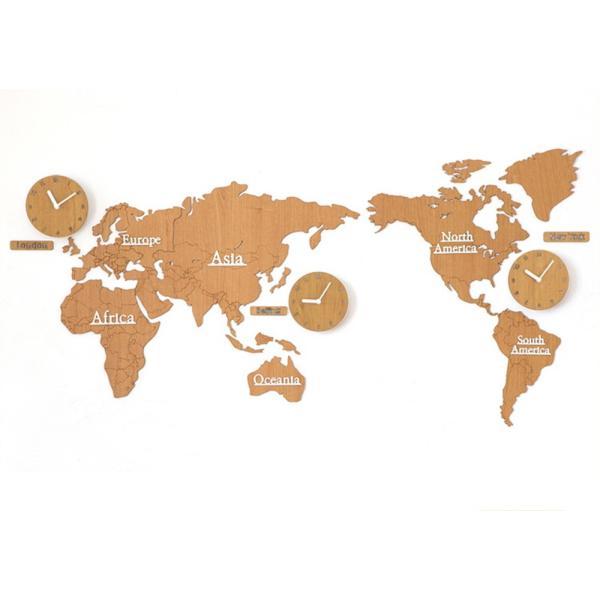 b38ac4cf93 GREEM MARKET(グリームマーケット)掛け時計 世界 時計 世界地図 北欧 ウッド DIY 品番: ...