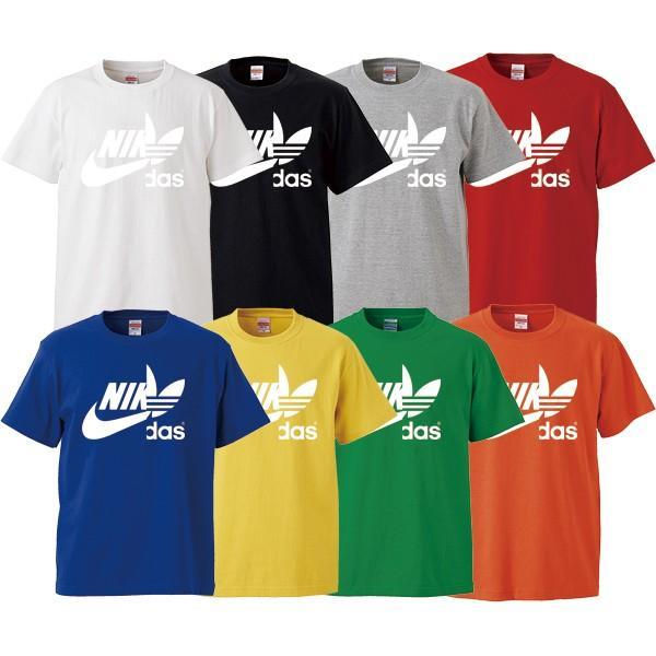 ストリート大人気ブランドTシャツ NIKdas ナイダス ハーフロゴ パロディ 韓国 コラボ ペアルック おしゃれ 可愛い トレンド ユニセックス Uネック 男女共用|gift-case|02