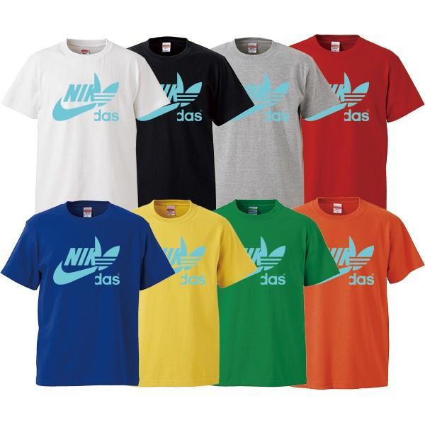 ストリート大人気ブランドTシャツ NIKdas ナイダス ハーフロゴ パロディ 韓国 コラボ ペアルック おしゃれ 可愛い トレンド ユニセックス Uネック 男女共用|gift-case|04