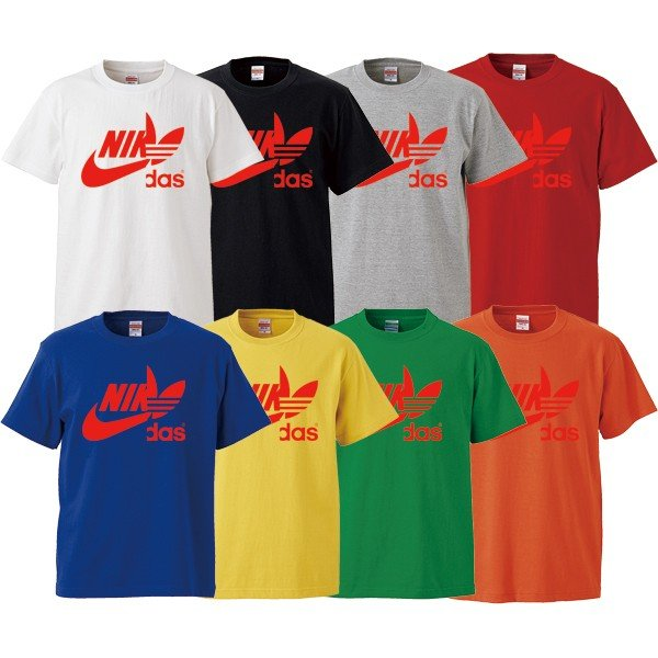 ストリート大人気ブランドTシャツ NIKdas ナイダス ハーフロゴ パロディ 韓国 コラボ ペアルック おしゃれ 可愛い トレンド ユニセックス Uネック 男女共用|gift-case|06
