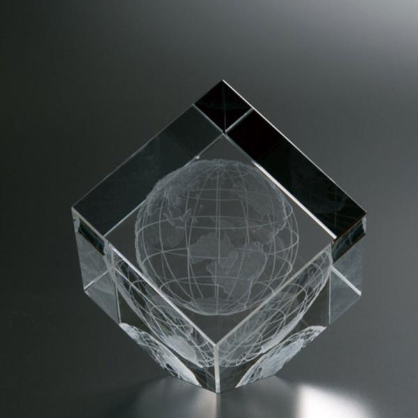 3D地球儀入りクリスタル オーナメント LCG-555