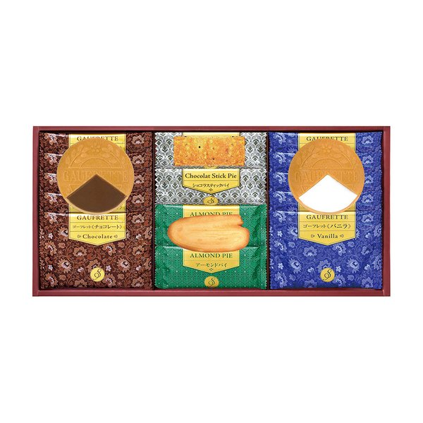 せんべい 米菓ギフト詰め合わせ Senjudoゴーフレット+Pie WS-15F| せんべい 米菓ギフト詰め合わせ お中元 御中元 お歳暮 御歳暮 お年賀 内祝い