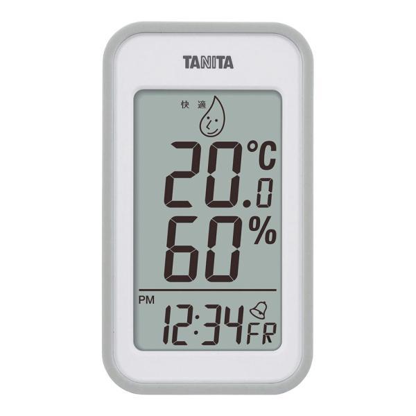 内祝い 記念品 温度計 湿度計 時計 クロック 温湿度計  TANITA タニタ デジタル温湿度計 TT559GY
