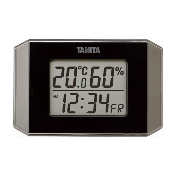 お祝い 温度計 湿度計  タニタ デジタル温湿度計 TT575BK