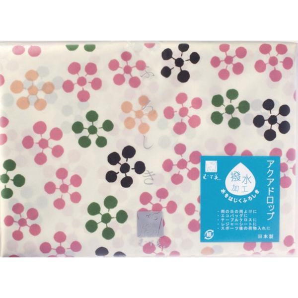 風呂敷 おしゃれ 箱入  京の風 風呂敷 こはれ アクアドロップ ハチドリ グリーン 三巾 10232-301 撥水加工