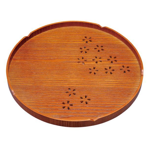 木製 トレー かわいい おしゃれ |さくら丸盆 30cm XHS-14