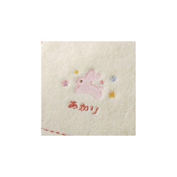 出産祝い 名入れ  名前 オーガニックコットン フード付きバスタオルとハンカチ2点セット|gift-maruheart|10