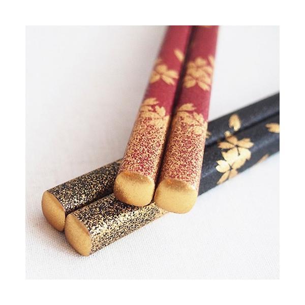 ( 神戸箸屋の高級箸 ) 輪島 / 桜吹雪 / 夫婦2膳ペア プレゼント 誕生日 贈り物 記念品 退職祝い 食器 結婚祝い セット