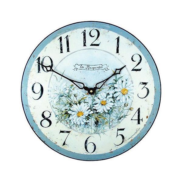 ロジャー・ラッセル 英国製アンティーク掛け時計(マーガレット柄) ブランド 海外 おしゃれ クロック