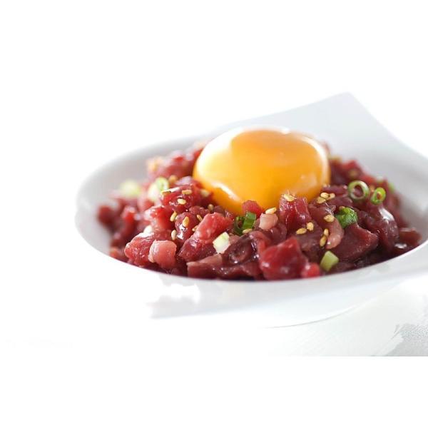 ( 産地直送 お取り寄せグルメ ) 北海道 「札幌バルナバフーズ」 牛生ハムユッケ ( ユッケ風生ハム )