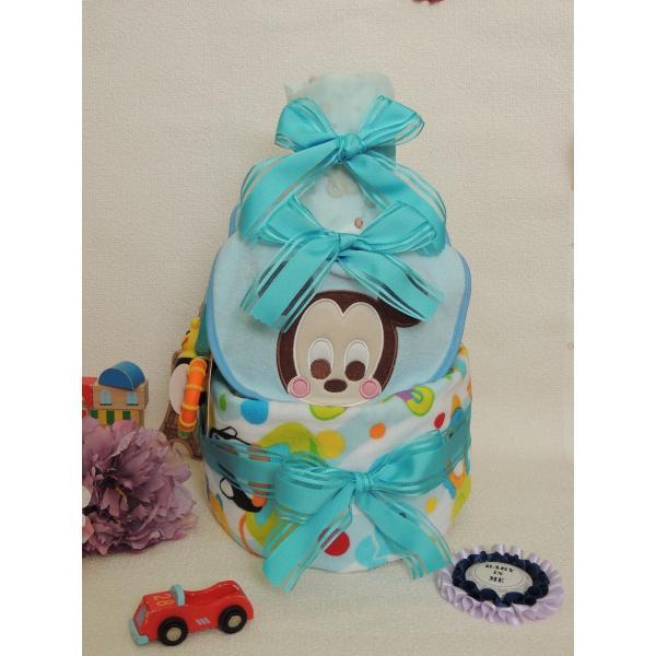 スタイ付きおむつケーキ(ミッキー)|gift-sasaya