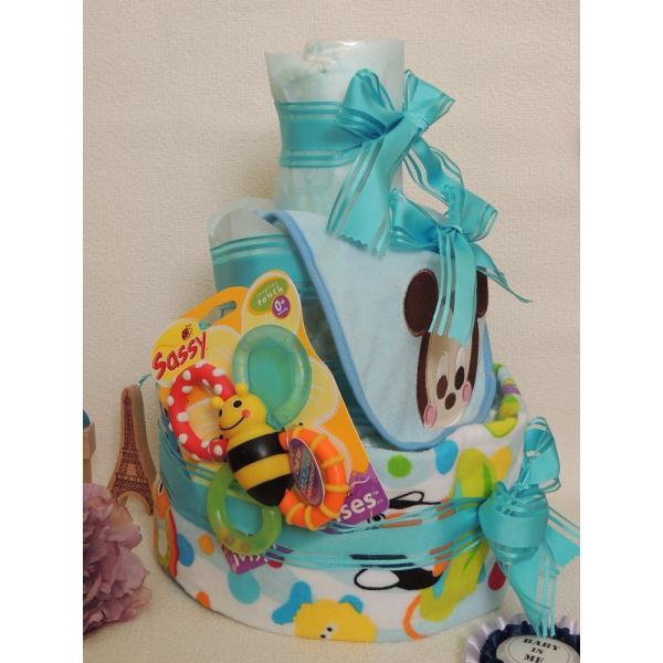 スタイ付きおむつケーキ(ミッキー)|gift-sasaya|02