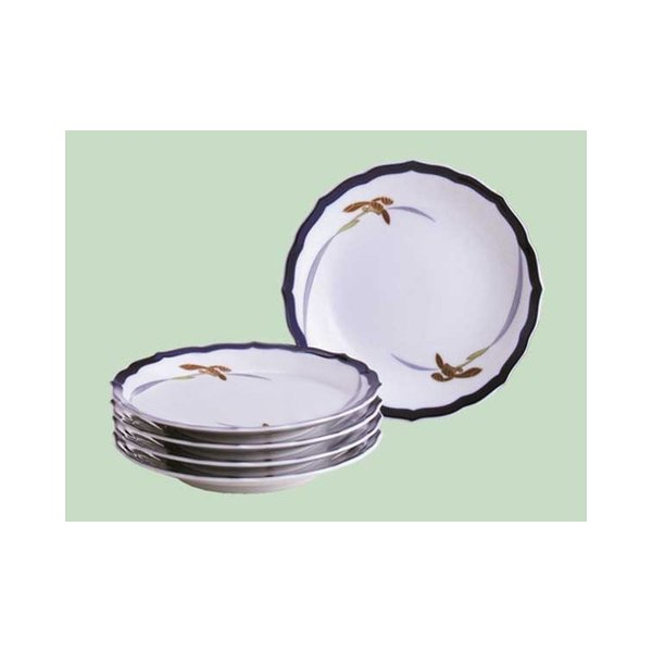 香蘭社(オーキッドレース)パン皿セット 15.5cm 1005-JE|gift-shop-yamato