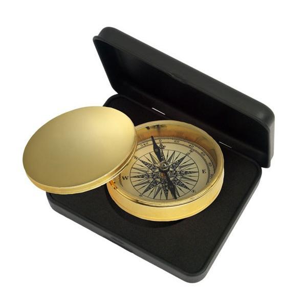 ノスタルジック方位磁石(コンパス:真鍮フタ付き)NAUTICA ドイツKasper&Richter社製 gift-trine-pro