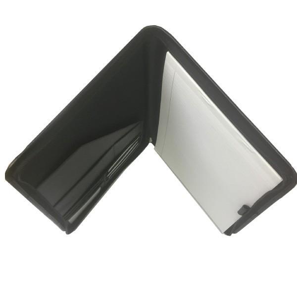レポートパッドホルダー A4対応 レザー 名入れ おしゃれ ノート ラウンドファスナー 多収納 ギフト スムース革|gift-trine-pro|02