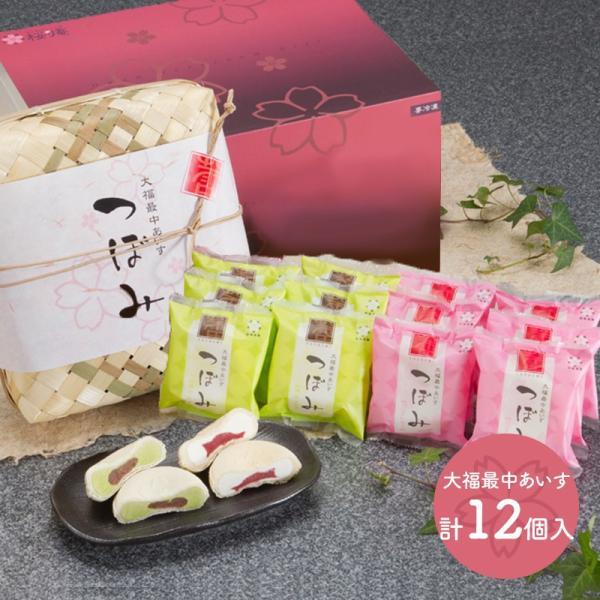 ギフト新潟大福最中あいす竹かご入計12個2種SK1022アイス最中大福抹茶いちごバニラお取り寄せ手土産お祝い詰め合せ高級母の日2