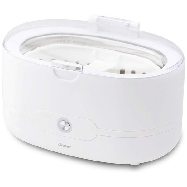 超音波洗浄機 ソニクリア UC-500 ドリテック ホワイト メガネ 時計 貴金属 入れ歯 ギフト対応不可 送料無料