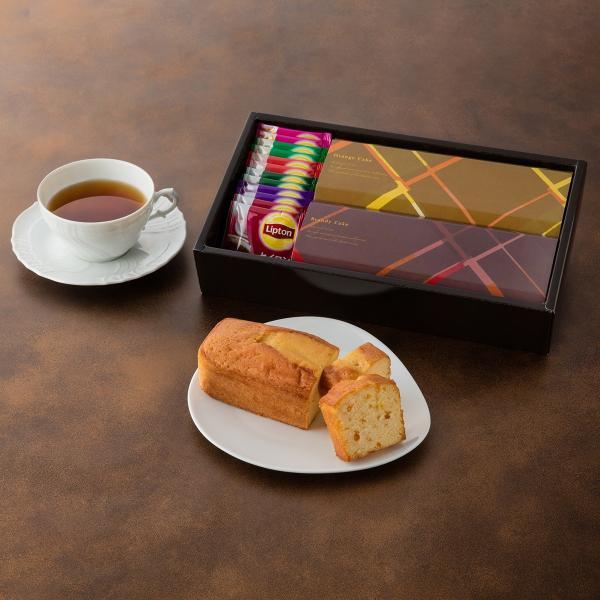 ブランデーケーキ オレンジ プレーン リプトン 紅茶 ギフトセット ブランデーケーキ&紅茶 giftnomori 03
