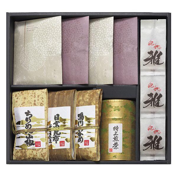 香典返し 法事引き出物 佃煮 お茶 おかき あられ ギフトセット 和の香|giftnomori