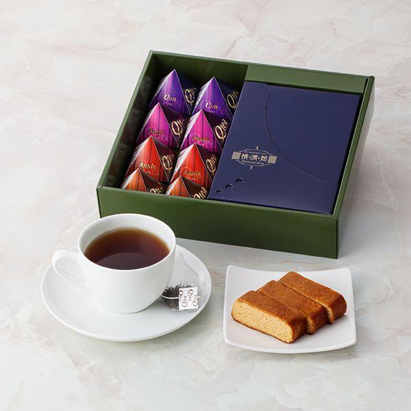 ブランデーケーキ メイプル 紅茶 おしゃれ 三角テトラ ティーバッグ ギフトセット ブランデーケーキ&紅茶|giftnomori|03