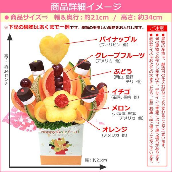 果物 ギフト サプライズプレゼント ノア バースデーケーキ 誕生日 結婚記念日 プレゼント カットフルーツ 盛り合わせ お祝い フルーツブーケ 宅配 送料無料|giftpark|08