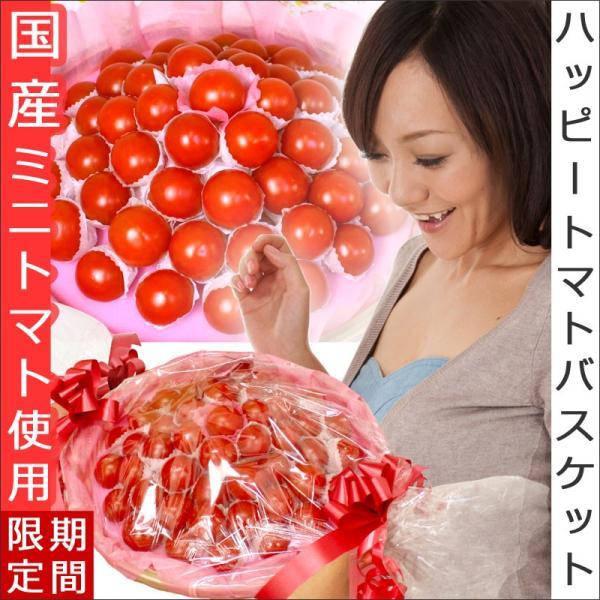 野菜 ギフト サプライズプレゼント ハッピートマトバスケット 誕生日 プレゼント ミニトマト プチトマト詰め合わせ 送料無料