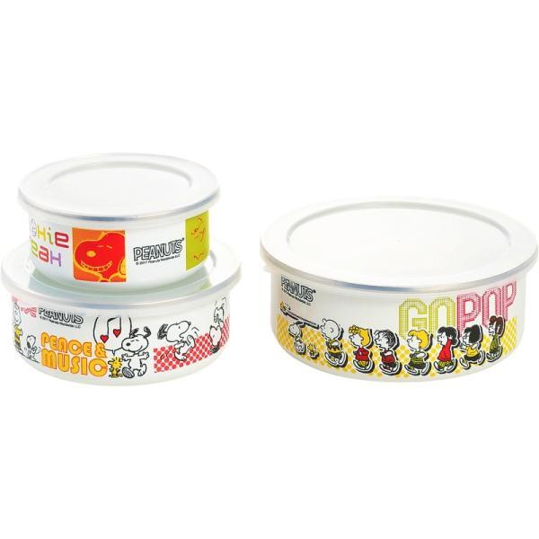 内祝 お返し 出産祝 結婚内祝 調理器具 キッチン 鍋 グリル スヌーピー ホーロー容器3点セット|giftstyle|02