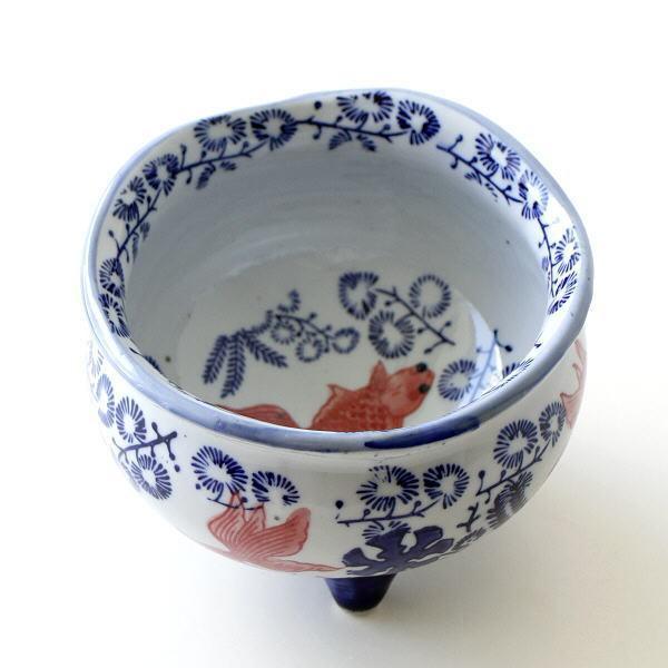 金魚鉢 陶器 おしゃれ 和風 水鉢 睡蓮鉢 メダカ鉢 かわいい レトロ 円形 金魚 ビオトープ 水生植物 陶器の金魚鉢 S
