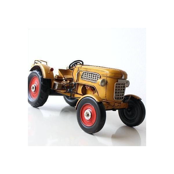 ブリキのおもちゃ車レトロアンティーク置物置き物インテリアオブジェアイアン鉄AmericanNostalgiaトラクター