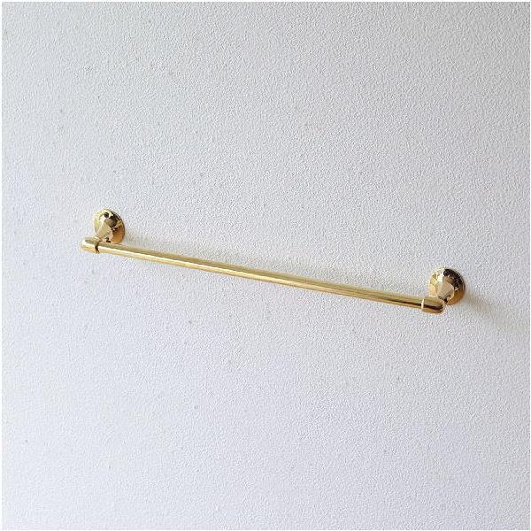 タオルハンガー アンティーク 真鍮 ゴールド 金色 おしゃれ タオル掛け 洗面所 トイレ キッチン デザイン シンプル ブラスタオルバー GPシングル
