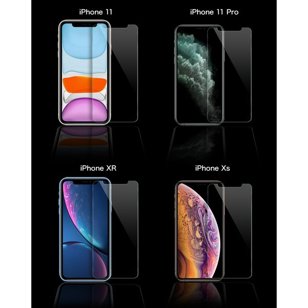 iPhone ガラスフィルム 保護フィルム iPhone8 XS XR iPhoneX 7 Plus フィルム アイフォン 硬度9H 6s/6/6sPlus/6Plus/SE/5s|gilddesign|02