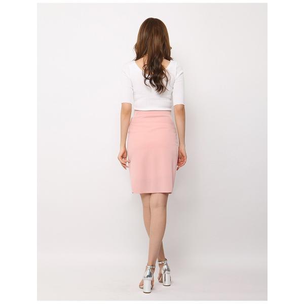 スカート レディース デザインラッフル&ギャザー チューリップタイトスカート GINA 一部予約 Lサイズあり 膝下丈 ひざ丈|gina|13