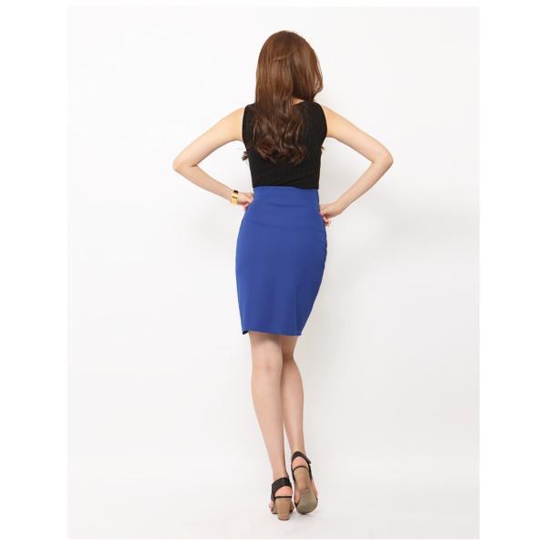 スカート レディース デザインラッフル&ギャザー チューリップタイトスカート GINA 一部予約 Lサイズあり 膝下丈 ひざ丈|gina|17