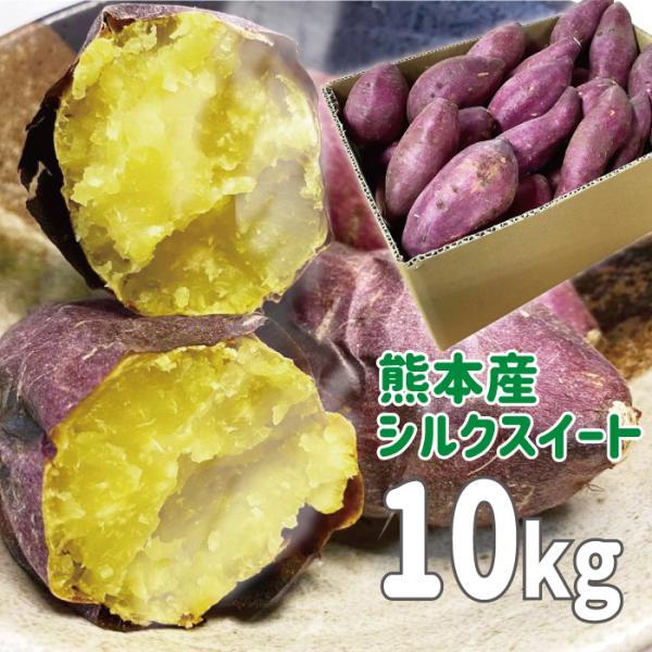 九州産(熊本産) さつまいも シルクスイート 10kg 送料無料 サツマイモ 単品 自宅用 まとめ買い 野菜 食材 お買い得 甘い 高糖度[シルクスイーツ しるくすいーと]